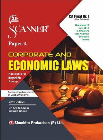 CA Final Corp. & Eco Laws Regular Scanner Books By Dr. Arpita Ghose & Gourab Ghose (New) - Zeroinfy