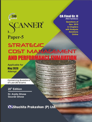 CA Final SCM&PE Regular Scanner Books By Dr. Arpita Ghose and Gourab Ghose (New) - Zeroinfy