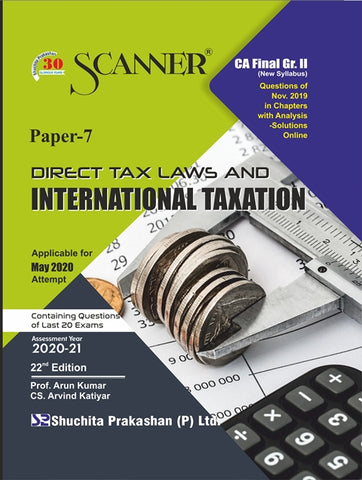 CA Final DT Laws and IT Regular Scanner Books By CS Arvind Katiyar & Prof. Arun Kumar (New) - Zeroinfy