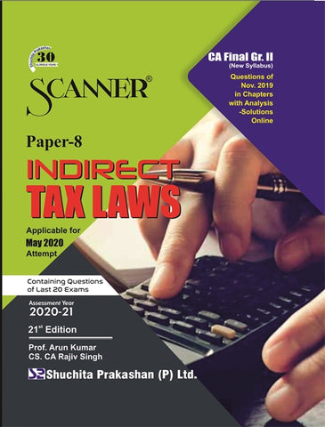 CA Final Indirect Tax Laws Regular Scanner Books By CS.CA Rajiv Singh And Prof. Arun Kumar (New) - Zeroinfy