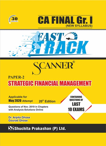 CA Final SFM Fast Track Scanner Books By Dr. Arpita Ghose and Gourab Ghose (New) - Zeroinfy