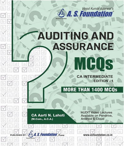 CA Intermediate Audit MCQ's Book By Aarti Lahoti - Zeroinfy