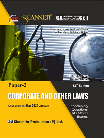 CA Inter Corporate and Other Laws Regular Scanner Books By Dr. Arpita Ghose and Gourab Ghose (New) - Zeroinfy