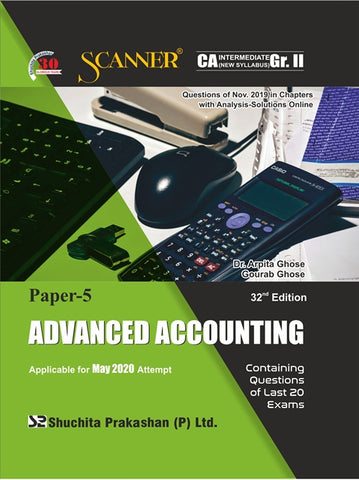 CA Inter Advanced Accounting Regular Scanner Books By Dr. Arpita Ghose and Gourab Ghose (New) - Zeroinfy