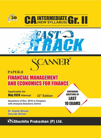 CA Inter FM and Eco. for Finance Fast Track Scanner Books By Dr. Arpita Ghose and Gourab Ghose (New) - Zeroinfy
