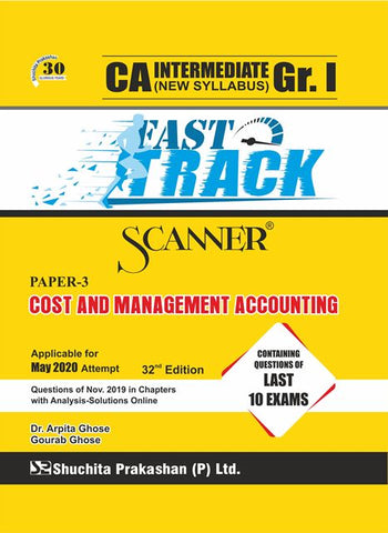 CA Inter Cost & Management Accounting Fast Track Scanner Books By Dr. Arpita Gh & Gourab Gh (New) - Zeroinfy