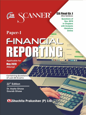 CA Final Financial Reporting Regular Scanner Books By Dr. Arpita Ghose and Gourab Ghose (New) - Zeroinfy