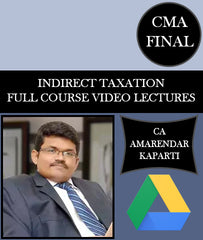 CMA Final IDT Full Course Video Lectures By CA Amarendar Kaparti - Zeroinfy