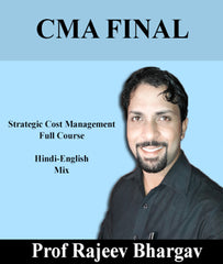 CMA Final Strategic Cost Management Full Course Video By Rajeev Bhargav (New) - Zeroinfy