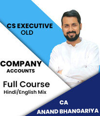 CS Executive Company Accounts Full Course Video Lectures By Anand Bhangariya - Zeroinfy