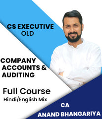 CS Executive Company Accounts and Auditing  Full Course Video Lectures By Anand Bhangariya - Zeroinfy