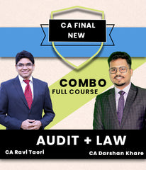 CA Final Law and Audit Combo By Darshan Khare and Ravi Taori - Zeroinfy