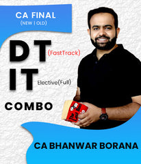 CA Final Direct Tax Fast Track and International Tax (Elective) Full Combo By Bhanwar Borana (New) - Zeroinfy