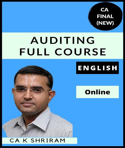 CA Final Audit Full Course in English By CA K Shriram (New) - Zeroinfy