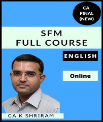 CA Final SFM Full Course in English by CA K Shriram (New) - Zeroinfy