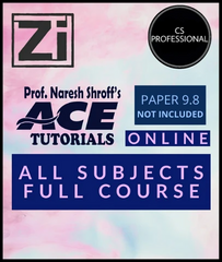 CS Professional (New) ALL Subject Combo Full Course Video Lectures By ACE Tutorials - Zeroinfy