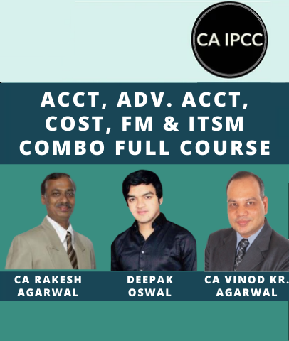 CA IPCC Accounting, Adv. Accounting, Cost, FM & ITSM Combo Full Course by AS Foundation