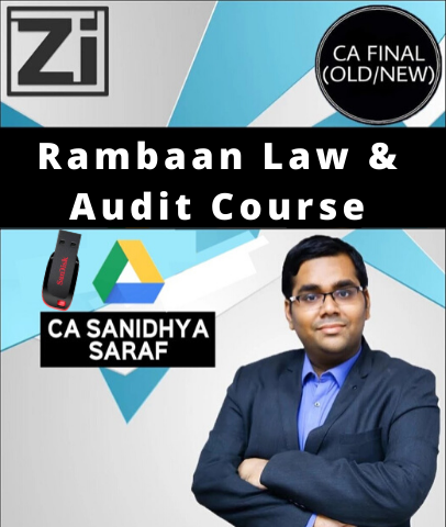 CA Final Rambaan Audit & Law Full Course Combo By Sanidhya Saraf (Old/New)