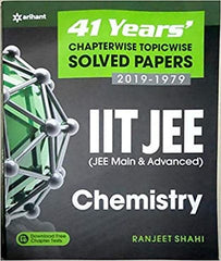 41 Previous Years IIT JEE Chemistry Solved Paper By D C Pandey - Zeroinfy