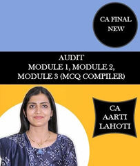 CA Final New AUDIT MAIN MODULES with MCQ Compiler (6th Edition) By CA Aarti Lahoti - Zeroinfy