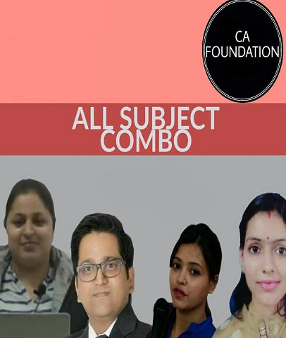 CA Foundation All Subjects Combo Video Lectures by Study At Home - Zeroinfy