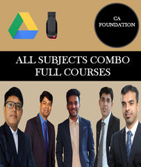 CA Foundation All Subjects Combo Full Course By Edushine Classes - Zeroinfy