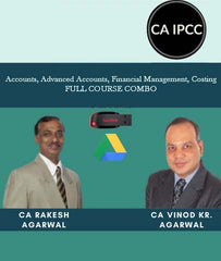CA IPCC Accounts, Advanced Accounts, Financial Management, Costing Combo Full Course By Vinod Agarwal and Rakesh Agrawal - Zeroinfy