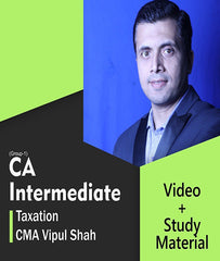 CA Inter Taxation Full Course Video Lectures By CMA Vipul Shah - Zeroinfy