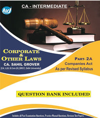 CA Inter Corporate and other laws Part-2 A  Companies Act  (Question Bank Included) By CA Sahil Grover - zeroinfy