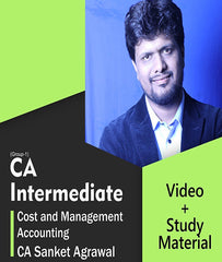CA Inter Cost and Management Accounting Full Course Video Lectures By CA Sanket Agrawal - Zeroinfy