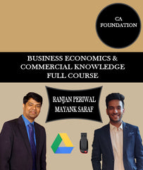 CA Foundation Business Economics and Commercial knowledge Full Course By CA Mayank Saraf and CA Ranjan Periwal - Zeroinfy