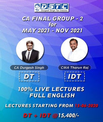 CA Final DT IDT Full Course Combo By Durgesh Singh and CMA Tharun Raj in English by Zeroinfy