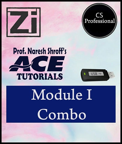 CS Professional Module I Combo full Course Paper 1,2,3 By Ace Tutorials - Zeroinfy