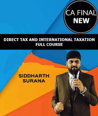 CA Final Direct and International Tax Full Course By Siddharth Surana (New) - Zeroinfy