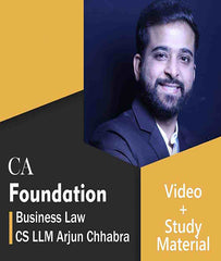 CA Foundation Business Laws Full Course Video Lectures By CS LLM Arjun Chhabra - Zeroinfy
