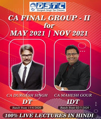 CA Final DT IDT Full Course Combo By Durgesh Singh and CA Mahesh Gour by Zeroinfy