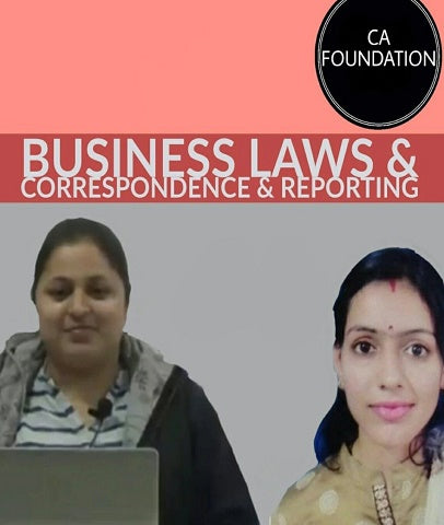 CA Foundation Business Laws and Correspondence and Reporting Full Course By Study At Home - Zeroinfy