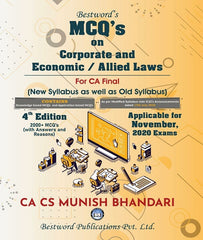 CA Final MCQs on Corporate and Allied Laws and Economic Laws By Munish Bhandari - Zeroinfy
