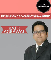 CS Foundation Fundamentals of Accounting & Auditing Video Lectures By Raj K Agrawal (New) - Zeroinfy
