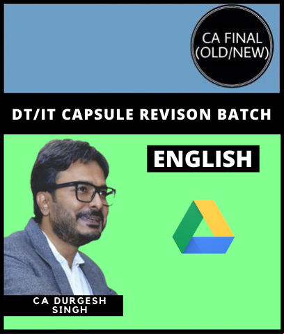CA Final Direct And International Taxation Revision by Durgesh Singh (Old/New) - English - Zeroinfy