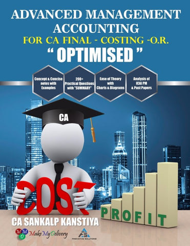 CA Final AMA (Costing + OR) by Sankalp Kanstiya (Only Books) - Zeroinfy