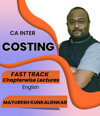 CA Inter Cost and Management Accounting Chapter Wise English Fast Track Lectures By J.K.Shah Classes - Prof Mayuresh Kunkalienkar - Zeroinfy