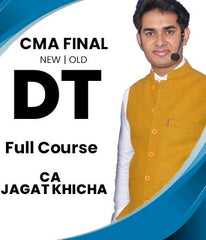 CMA Final Direct Tax Full Course Video Lectures By CA Jagat Khicha (Old/New)
