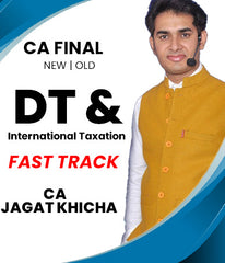 CA Final New Direct Tax and International Taxation Fast Track Video Lectures By CA Jagat Khicha