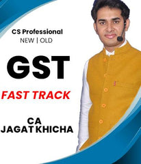 CS Professional GST Only Fast Track Course Video Lectures by Jagat Khicha (Old/New) - Zeroinfy
