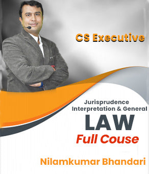 CS Executive (New) Jurisprudence Interpretation and General Laws By CA Nilamkumar Bhandari - Zeroinfy