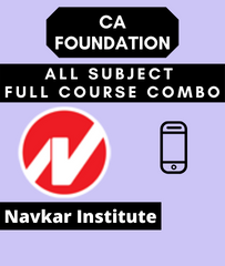 CA Foundation All Subject Full Course Combo By Navkar Institute
