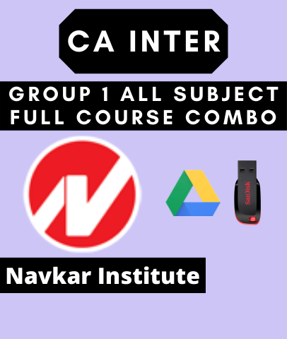 CA Inter Group 1 All Subject Full Course Combo By Navkar Institute