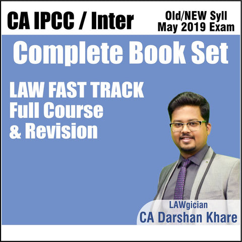 CA INTER LAW FAST TRACK REVISION COMPLETE BOOK SET BY DARSHAN KHARE
