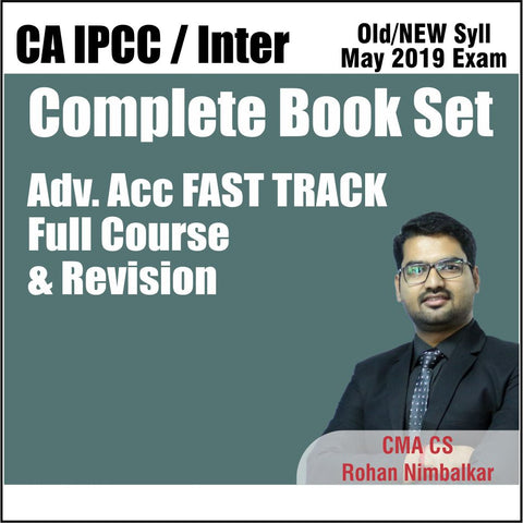 CA INTER ADV ACCOUNT Fast Track Revision Complete Book Set By Rohan Nimbalkar - Zeroinfy